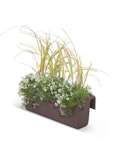 Viva Matte Self-Watering Balcony Railing Planter, Bronze