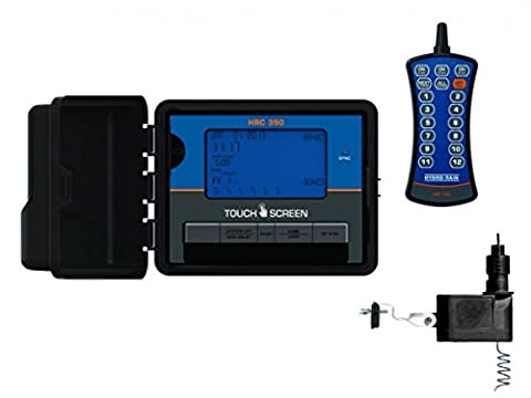 Hydro-Rain HRC 390 Indoor/Outdoor 6 Station Touch Screen Combo with Remote & Wireless Sensor