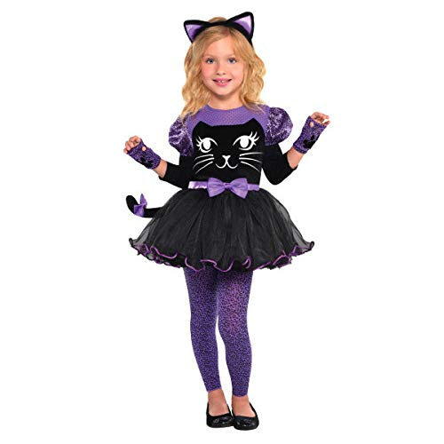 Amscan 845972 Girls Miss Meow Cat Costume, Multicolor, Small/ -