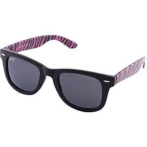 903 Pugs 100% UV Wayfarer Sunglasses (Pink Tiger Frame, Medium Black Lens)