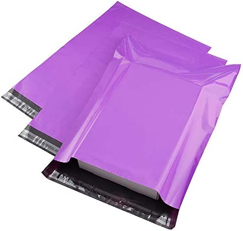 Metronic Poly Mailers 12×15.5 Envelope Mailers 100pack Shipping Bags with Self Adhesive Waterproof and Tear-Proof Postal Bags in Purple