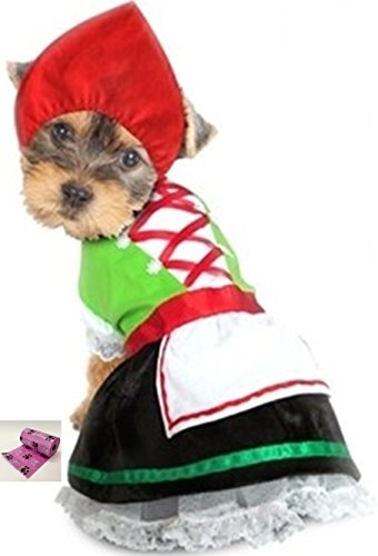 Puppe Love Oktoberfest Lederhosen Alpine Costume with Bags - Choice of Boy or Girl -in Color Green - Available in Dog Sizes XS Thru L (S - Chest 12-14