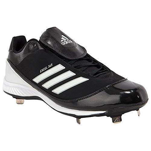 adidas New Men's Size 10.5 Excelsior 365 Metal Low Baseball Cleat Black/White