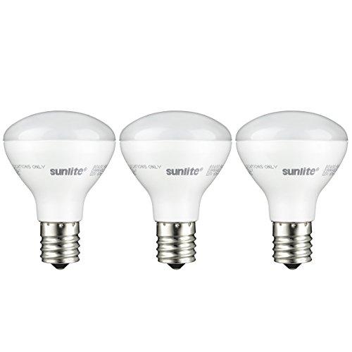 4w Mini (Sunlite R14/LED/N/E17/4W/D/27K/3PK 2700K Reflector Floodlight 4 Watt, 25W Equivalent Light Bulbs with Intermediate E17 Base (3 Pack), Warm White)