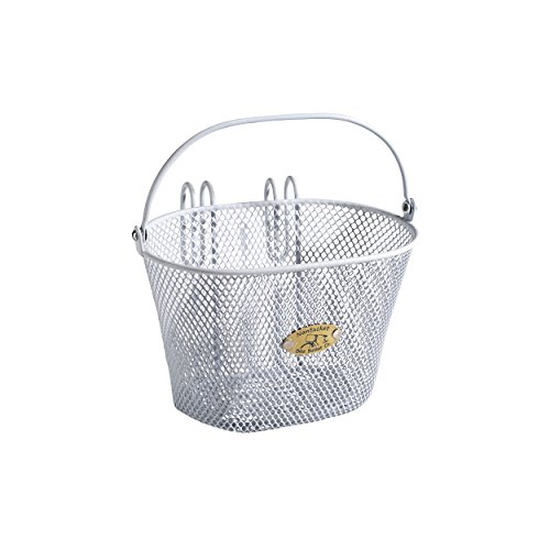 Nantucket Bike Basket Co Kid's Surfside Mesh Wire Basket, White