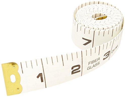 DealMux sastre cinta 150cm 60 pulgadas de largo de fibra de vidrio regla de la medida Blanca