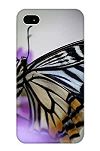 Design High Impact Dirt/shock Proof Case Cover For Iphone 4/4s (Animal Butterfly)