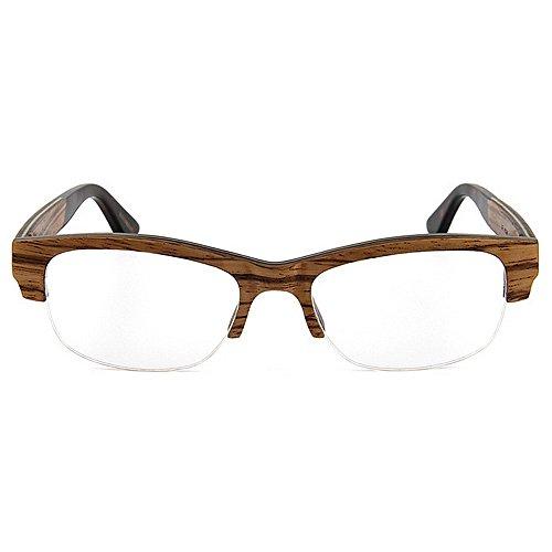 semiairimétricas de Gafas Eyewear Hombres Gafas Alta de para Calidad Hechas Wayfarer KOMEISHO Madera a Mano Sol Adult Clásicas cuadradas Gafas Gafas de Artísticas de Ocio Original de Sol Marrón Diseñador q5wtPWEI