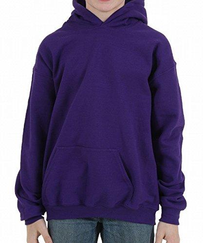 Gildan boys Heavy Blend Hooded Sweatshirt(G185B)-PURPLE-L