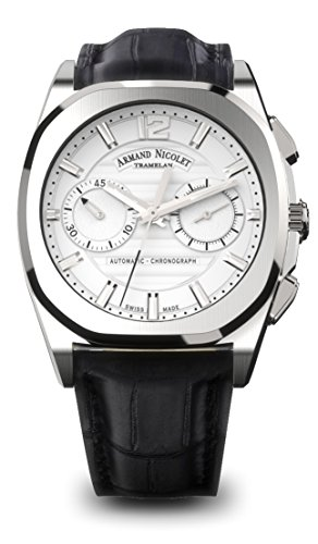 Armand Nicolet Men's J09 Collection A654AAA-AG-PI4650NA