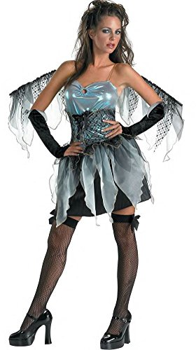 [DARK ANGEL frost fairy womens sexy nymph wings halloween costume 12 14 LARGE] (Dark Fairy Wings Costume)