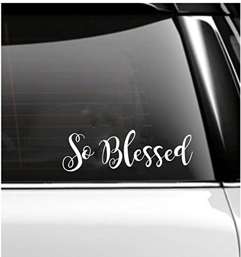 So Blessed Car Decal- Tumbler Decal (Blessings Decal Auto compare prices)