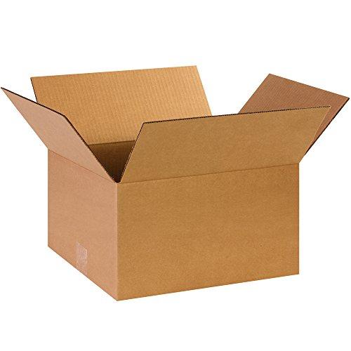"""BOX USA B14128 Corrugated Boxes, 14"""" x 12"""" x 8"""", Kraft (Pack of 25) from BOX USA"""