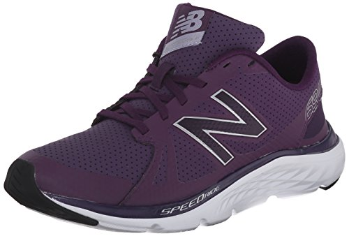 UPC 889516122211, New Balance Women's W690V4 Running Shoe, Purple/Silver, 7 D US
