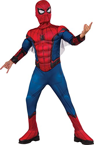 Spider Man New Costumes Comic (UHC Padded Spiderman Outfit Movie Theme Child Fancy Dress Halloween Costume, Child M (8-10))