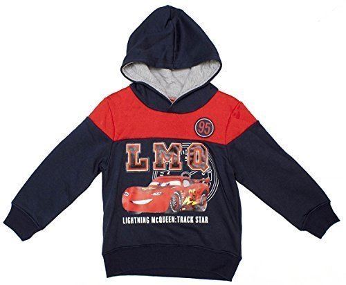 Boys Disney Cars Lightning McQueen Track Stars Sweat Hoody Jumper sizes from 3 to 8 Years