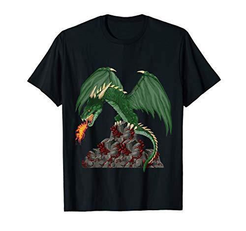 Wyvern Dragonfire Awesome Dragon Tee Novetly Fantasy Gift T-Shirt