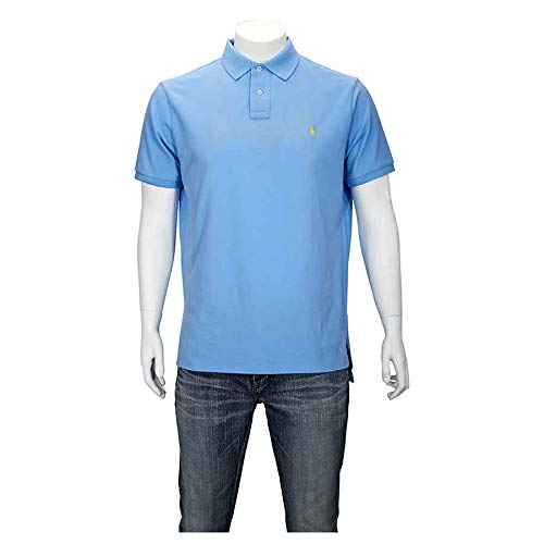 Polo Ralph Lauren Men Custom Fit Mesh Polo Shirt (X-Large, Chateau Blue) (Fit Custom Lauren By Polo Ralph)