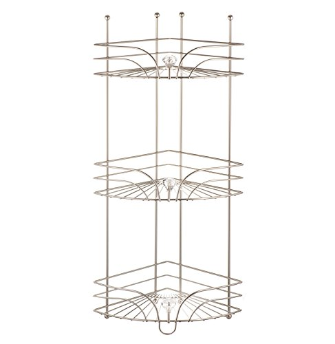 AMG and Enchante Accessories Free Standing Bathroom Spa Tower Floor Caddy, FC231-A SNI, Satin Nickel by AMG (Image #6)