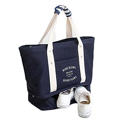 bb4ff24073ca Obosoyo Foldable Travel Duffel Bag Waterproof Sports Gym Luggage Storage  Purse Lightweight Carry-On Canvas