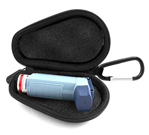 Casematix Asthma Inhaler Medicine Travel Case To Protect Portable Inhalers from Dust and Dirt