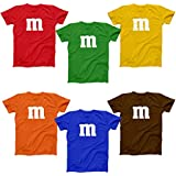 M Chocolate Candy Halloween Costume Outfit Funny Group Cool Party Mens Shirt Medium Gold
