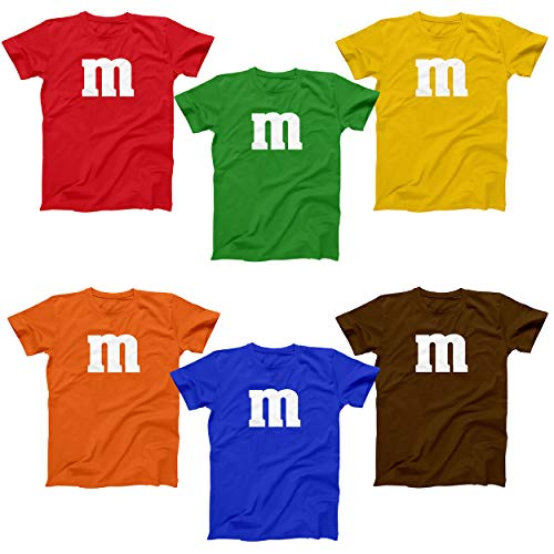 M Chocolate Candy Costume Outfit Funny Group Halloween Set Mens Shirt Large Royal -