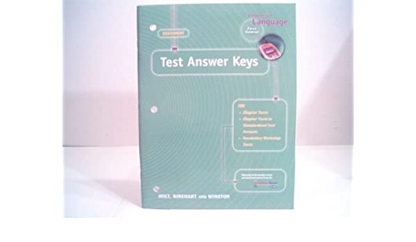 Elements of language assessment first course test answer keys elements of language assessment first course test answer keys rinehart and winston holt 9780030574269 amazon books fandeluxe Image collections
