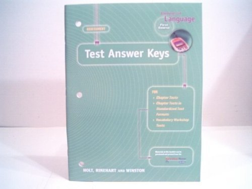 Elements of Language Assessment First Course Test Answer Keys ...