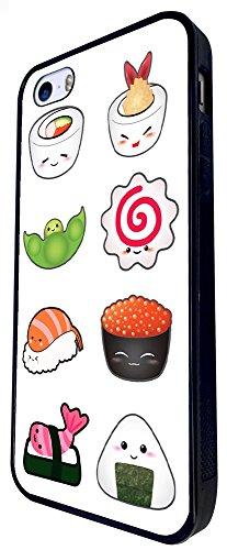 950 - Cool Cute Fun Food Sushi Rolls Food Lovers Japanese Maki California Roll Illustration Art Kawaii Doodle Design iphone SE - 2016 Coque Fashion Trend Case Coque Protection Cover plastique et métal