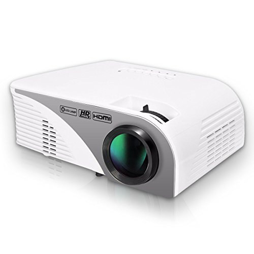 HD Projector,LCD 1200 Lumens Mini Video Projector LED Mul...