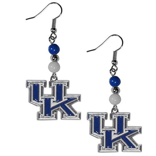 - NCAA Kentucky Wildcats Fan Bead Dangle Earrings
