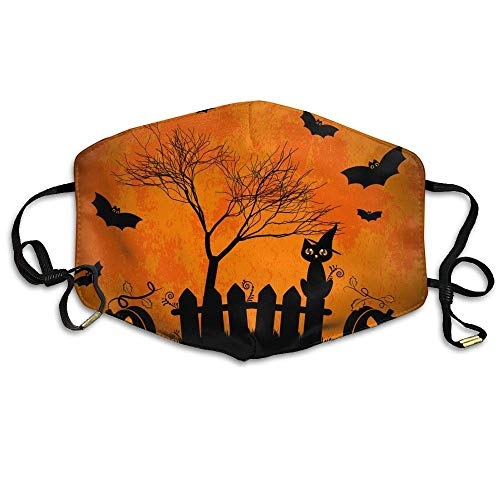 SOADV Mouth Masks Unisex Wishes for Happy Halloween Trick Treat Anti Germs Mouth-Muffle Masks Mouth Face Masks ()