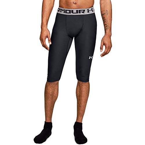 Under Armour Men's Baseline knee Tights, Black (001)/White, Large