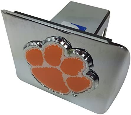 AMG Clemson Metal Emblem on Chrome Metal Hitch Cover with Colors