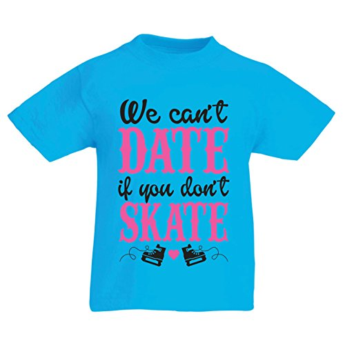 (T Shirts for Kids No Skate, No Date - Cool Slogan Gift, Funny Dating Quotes (14-15 Years Light Blue Multi Color))