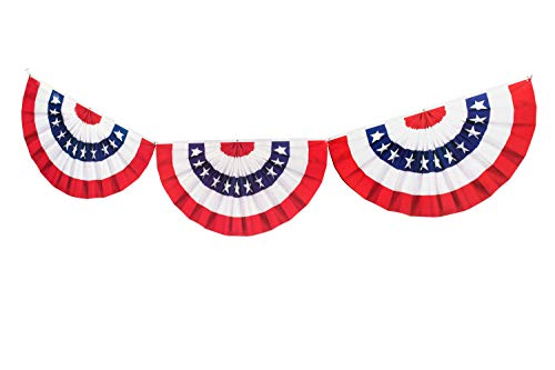 TCDesignerProducts Paper Patriotic Bunting Garland, 12 Inches x 6 Feet