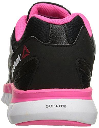 Reebok Womens Sublite Xt Coussin Mt Chaussure De Course Noir / Argent / Solaire Rose / Blanc