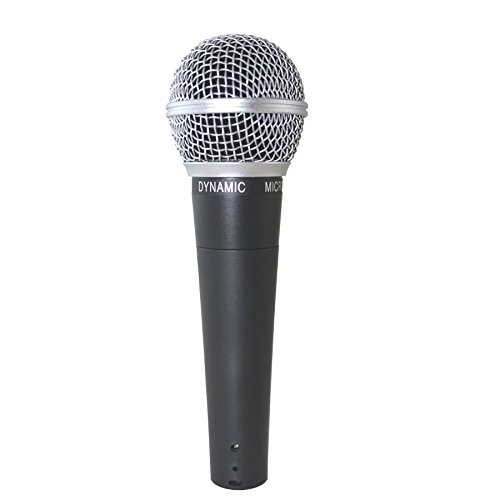 Weymic New Wm58 Mic Dynamic Vocal Microphone Classic Style Microphone Audio Instrument Mic with Clean Sound,metal Body Professional Moving Coil Dynamic Handheld Microphone]()