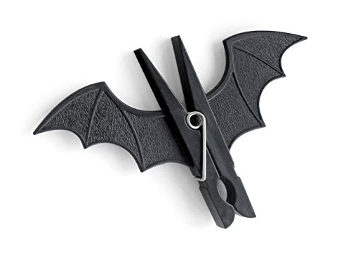 SUCK UK Spooky Bat Pegs, Black