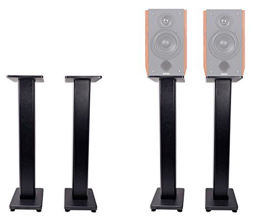 Pair 36'' Bookshelf Speaker Stands For Edifier R2000DB Bookshelf Speakers by Rockville