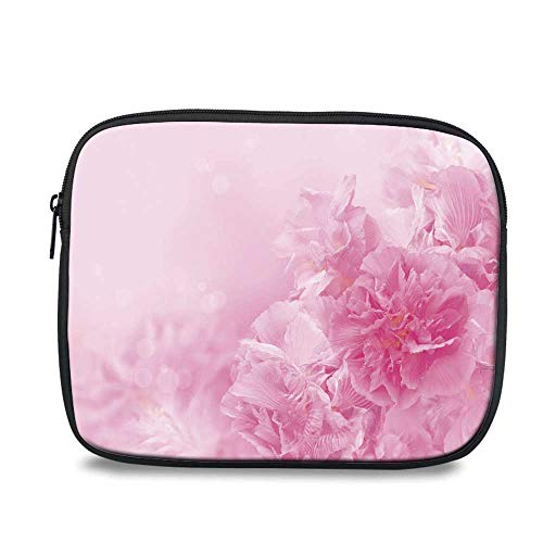 - Light Pink Durable iPad Bag,Spring Flowers Close Up Florets Bouquet Elegance Beauty Wedding Shabby Chic Print Decorative for iPad,10.6