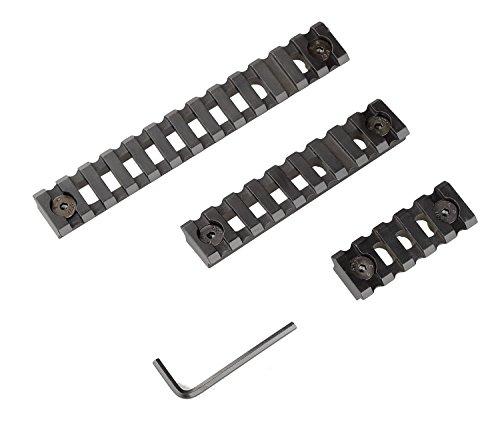Weaver Rail System - TXTactical Aluminum Alloy Picatinny/Weaver Rails for M-LOK Compatible Systems, M-LOK Picatinny Rails, 5-slot, 9-slot,13-slot (Hollow-out)