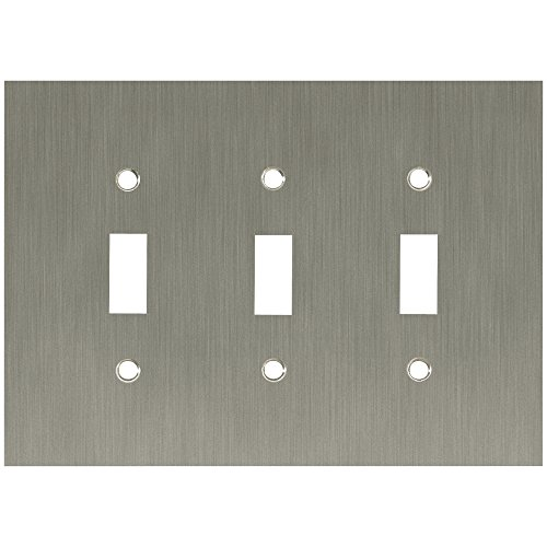 Franklin Brass 64935 Concave Triple Toggle Switch Wall Plate / Switch Plate / Cover, Satin Nickel