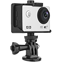 Elephone ELE Explorer Action Camera Wifi Ultra HD 4K 15fps 16MP 2.0 inch LCD Screen 170° Wide Lens Waterproof Sports Video Camera DV Cam Camcorder (Battery included) (Silver)