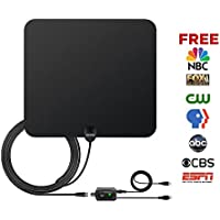 HD TV Antenna for Digital TV indoor , HDTV Digital Antenna  with Detachable Amplifier Signal Booster for 50 Mile Range, HYONE 2018 Upgraded for Better Signal