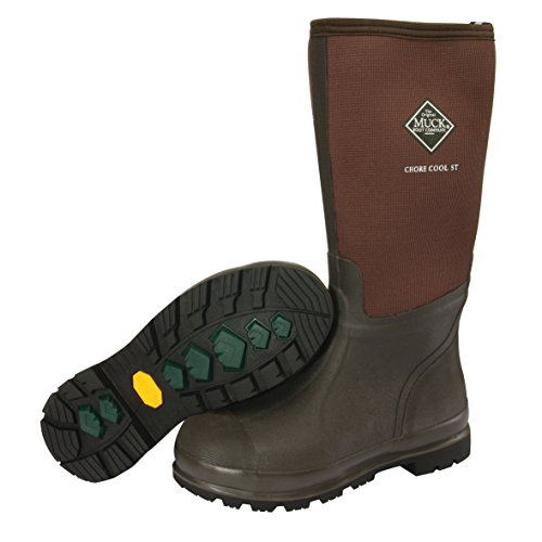 Stl Toe Boots - Muck Chore Cool Warm Weather Tall Steel Toe Men's Rubber Work Boots