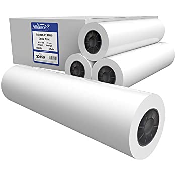 "Paper Unlimited 750 Sheets 13/"" x 19/"" 20 lb Bond Plotter Paper Inkjet 92 Bright"
