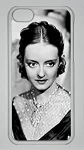 American Actress Bette Davis 007 Iphone 5C Transparent Sides Hard Shell PC Case by eeMuse
