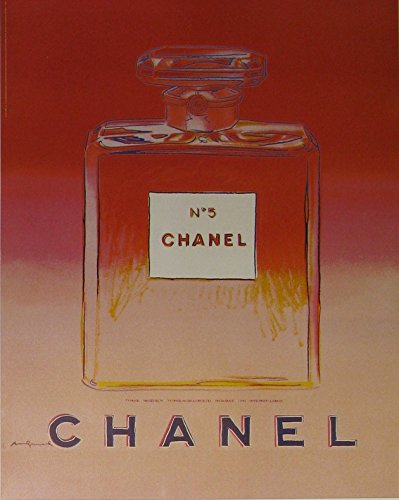 Chanel No 5 (Red/Pink -small format) - Original Vintage (Andy Warhol Chanel No 5 Poster)